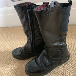Geox size 10 girls black boots